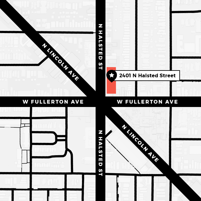 Alphawood Gallery Map, 2401 N Halsted St, Chicago, IL